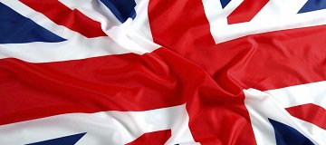 Union jack on fabric