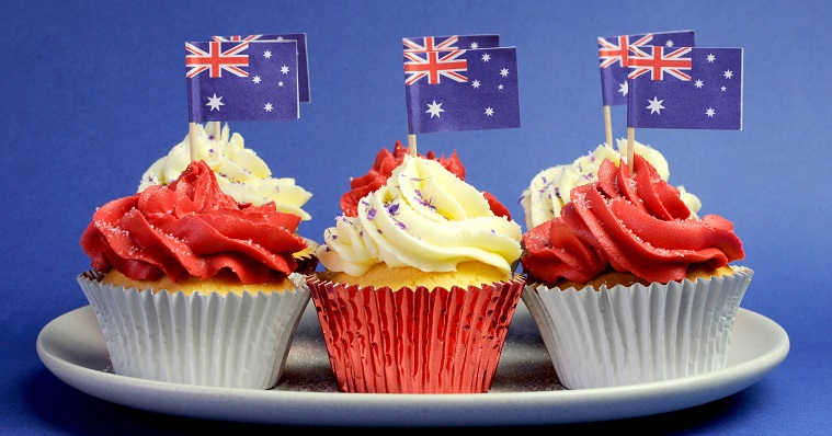 cupcakes-with-australian-flag