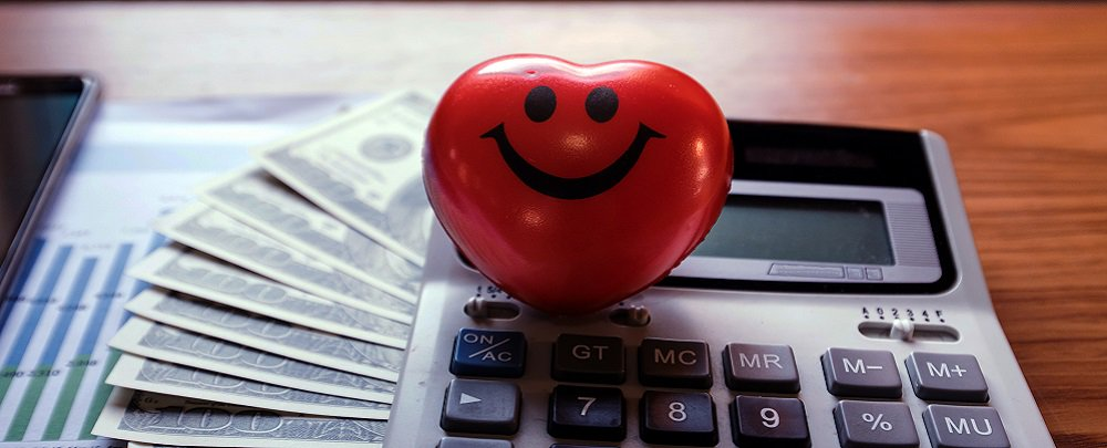 heart calculator desk cash